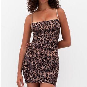Luxor Mini Dress - TEN by Babaton. Leopard print